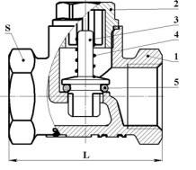 Клапан обратный латунный